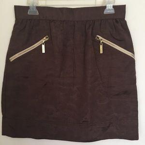 WALTER Skater Skirt Gold Zippers Size 10
